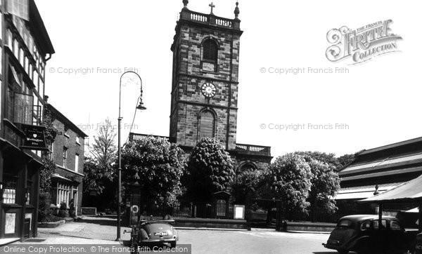 Burton On Trent, St Modwen's Church c.1955