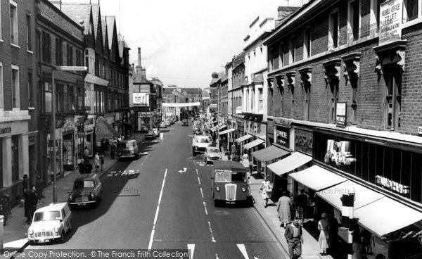 Burton On Trent, Station Street 1961