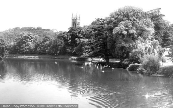 Burton On Trent, The River At Stapenhill c.1960