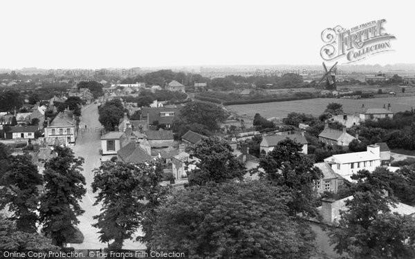 Burwell, Village From Church Tower c.1955