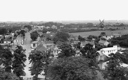 Burwell, Village From Church Tower c.1955