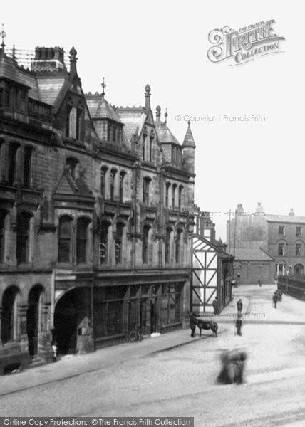 Bury, Castle Buildings, Market Place 1895