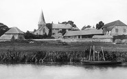 Bury, Church of St John the Evangelist from the River Arun 1898