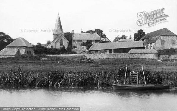 Photo of Bury, Church of St John the Evangelist from the River Arun 1898