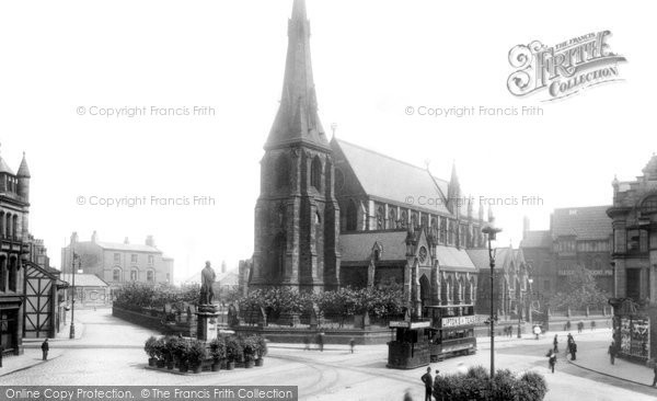 Bury, Market Place And Church 1902