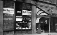 Bury, Shops In Fleet Street 1895