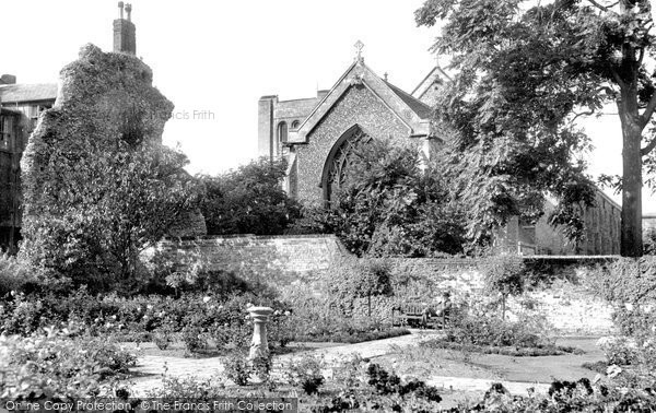 Bury St Edmunds, Abbey Gardens, The Rose Garden c.1955