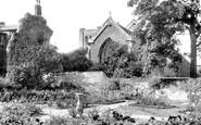 Bury St Edmunds, Abbey Gardens, The Rose Garden c.1955