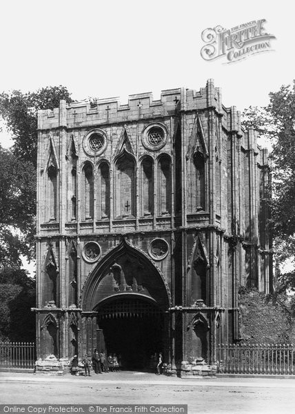 Bury St Edmunds, Abbey Gate c.1900
