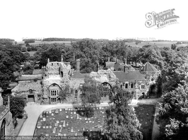 Bury St Edmunds, Abbey Ruins 1929