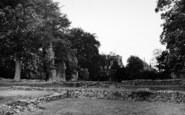 Bury St Edmunds, Abbey Ruins c.1955