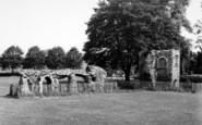 Bury St Edmunds, Abbey Ruins c.1960