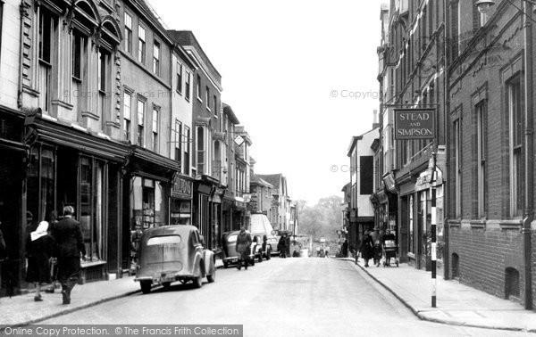 Bury St Edmunds, Abbeygate Street c.1955