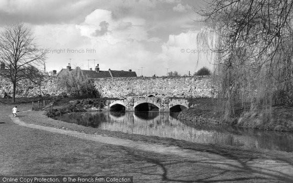 Bury St Edmunds, Abbot's Bridge c.1963