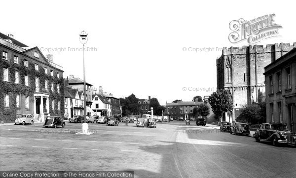 Bury St Edmunds, Angel Hill c.1955