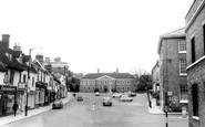 Bury St Edmunds, Angel Hill c.1965