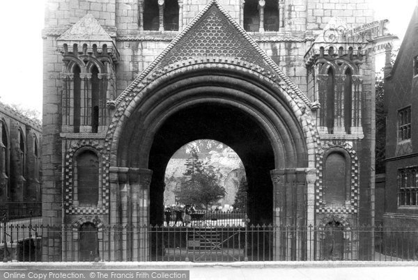 Bury St Edmunds, Arch Of Norman Tower 1898