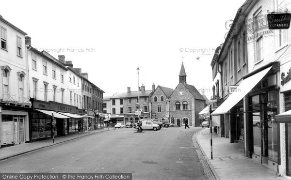 Bury St Edmunds, Butter Market c.1965