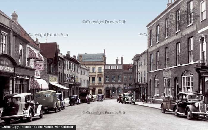 Bury St Edmunds, Buttermarket c.1955