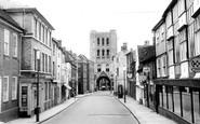 Bury St Edmunds, Churchgate Street c.1955