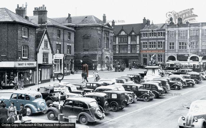 Bury St Edmunds, Cornhill c.1950