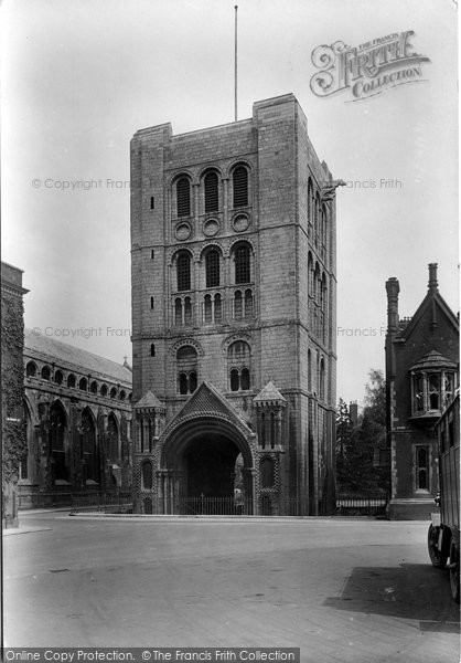 Bury St Edmunds, Norman Tower 1922