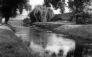Bury St Edmunds, River Lark In Abbey Gardens c.1955