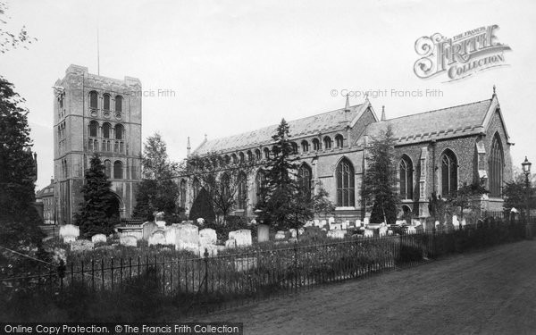 Bury St Edmunds, St James' Cathedral Church 1898
