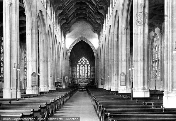 Bury St Edmunds, St James' Cathedral Church, Interior 1922