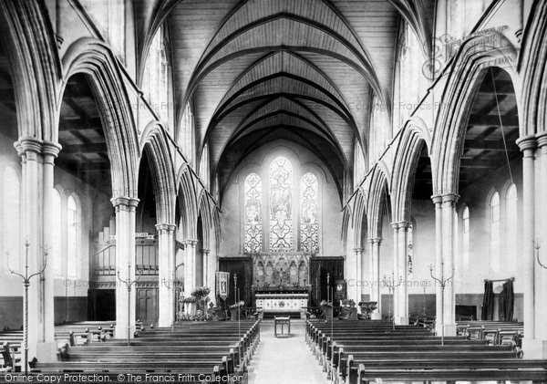 Bury St Edmunds, St John's Church, Interior 1898
