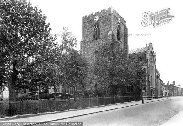 Bury St Edmunds, St Mary's Church 1922