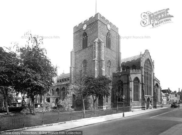 Bury St Edmunds, St Mary's Church 1929