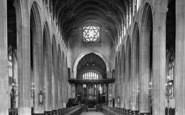 Bury St Edmunds, St Mary's Church Interior 1929