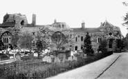 Bury St Edmunds, The Abbey Ruins 1898