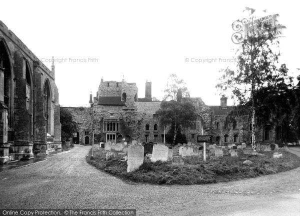 Bury St Edmunds, The Abbey Ruins c.1955