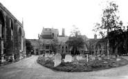 Bury St Edmunds, The Abbey Ruins c.1955
