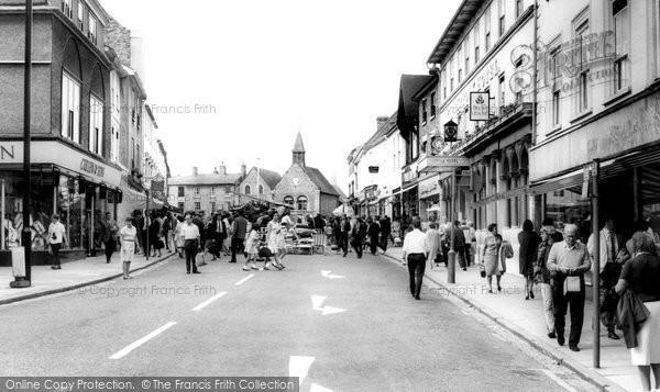Bury St Edmunds, The Butter Market c.1965