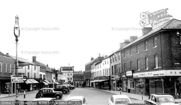 Bury St Edmunds, The Buttermarket c.1965