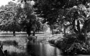 Bury St Edmunds, The River c.1960