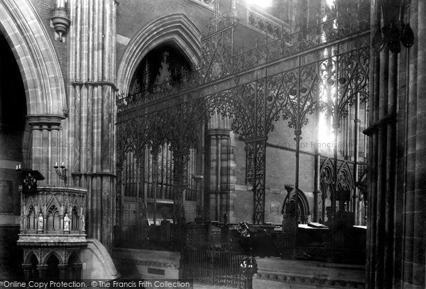 Bury, St Mary's Church, The Choir Screen 1902