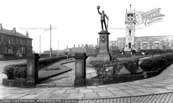 Bury, The Whitehead Clock Tower c.1955