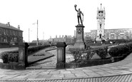 Bury, The Whitehead Clock Tower c.1955