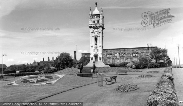 Bury, Town Hall And Clock Tower c.1955