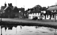 Bushey, The Pond And Coronation Arch 1953