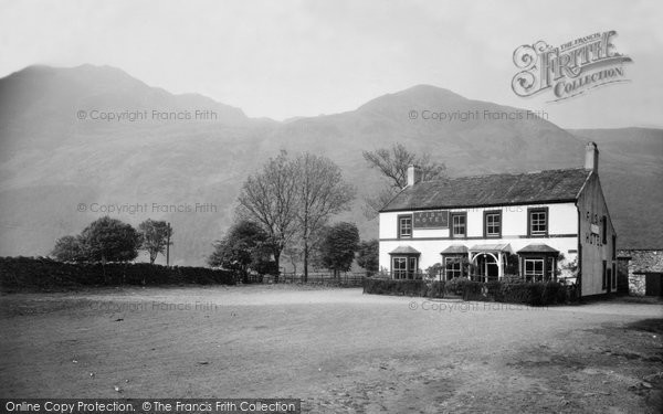 Buttermere, High Stile, Sourmilk Gill, Red Pike And Fish Hotel c.1955