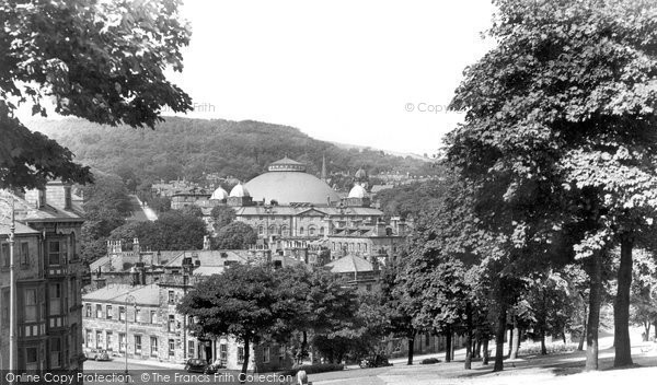 Buxton, Devonshire Royal Hospital From Slopes c.1955