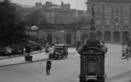 Buxton, Fountain Beside The Crescent 1923