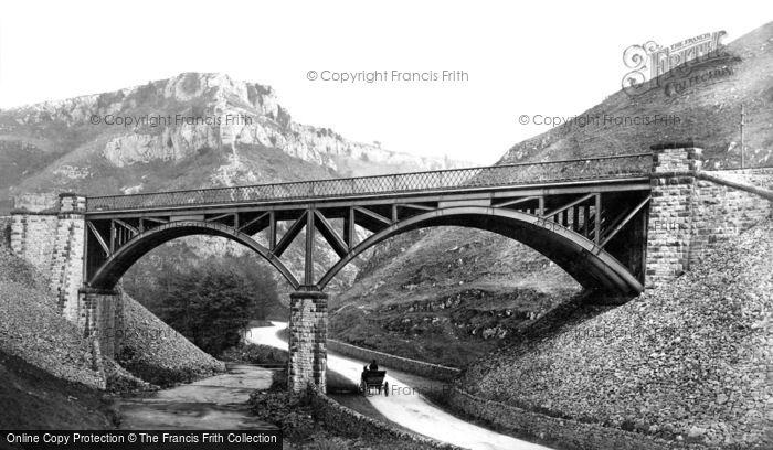 Buxton, Railway Bridge Over The River Wye c.1870