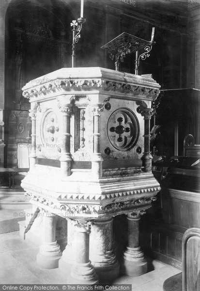 Buxton, St John's Church, Pulpit 1890