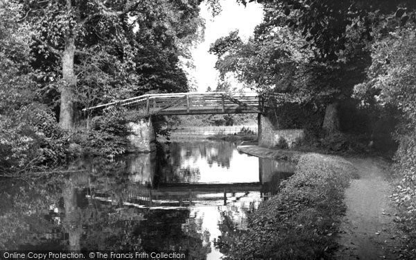 Photo of Byfleet, the Canal at Stoop Bridge c1955